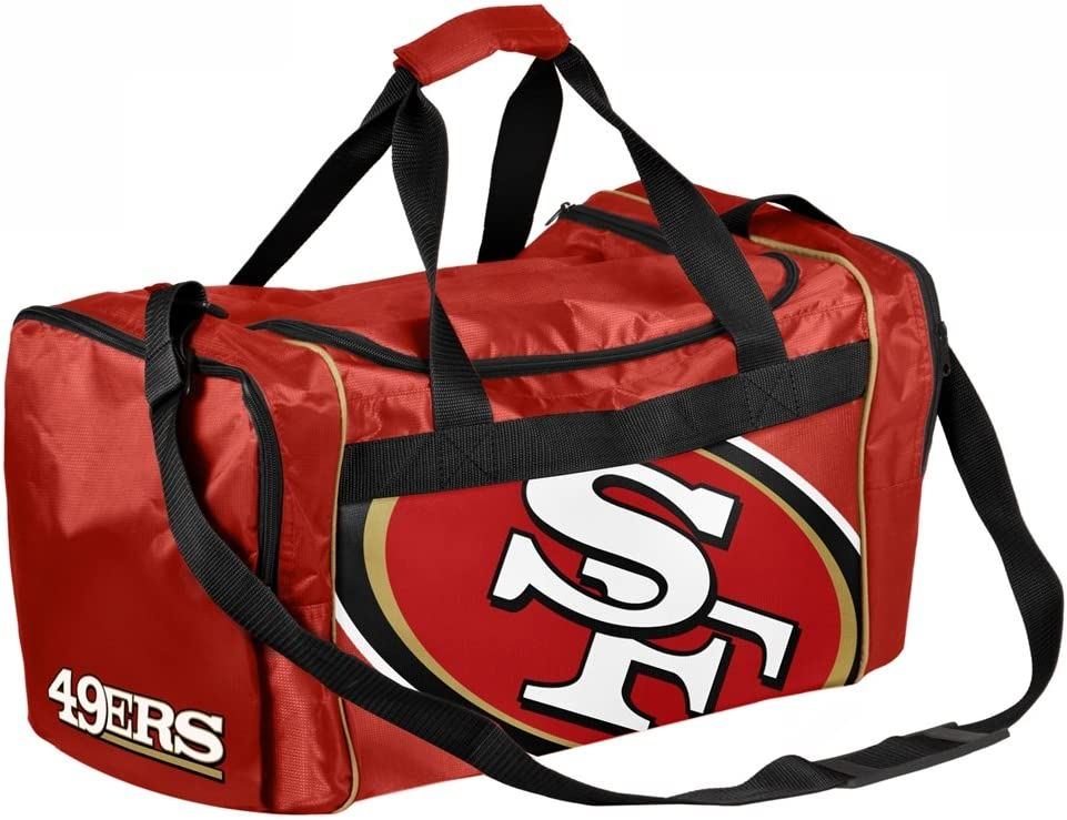 Forever Collectibles NFL San Francisco 49Ers Core Duffle Bag : Sports Fan Duffel Bags : Sports & Outdoors