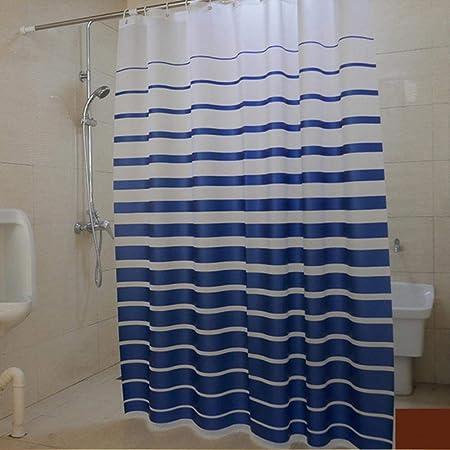 Cranky Naranja Cortinas de Ducha de plástico peva Blanco mampara de baño a Rayas para el baño del hogar Cortina a Prueba de Moho Impermeable con Ganchos, Azul, 150x200cm: Amazon.es: Hogar