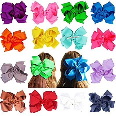 Huge Big Double-Deck Bow Grosgrain Ribbon Bows Hair Bands Boutique Hair Bows For Girls Kids Children Women Alligator Hair Clips