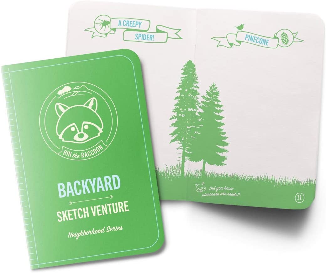 Kids Drawing Sketchbook - Backyard Art Adventure Book Guides Children Outdoors to Journal Nature, Bugs, Animals, Trees and More with Premium Paper Construction