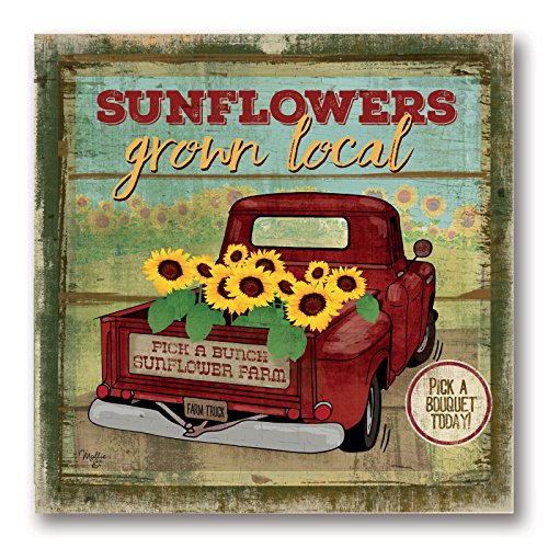 Gango Home Decor Country-Rustic Sunflowers from The Farm by Mollie B. (Printed on Paper); One 12x12in Unframed Paper Poster