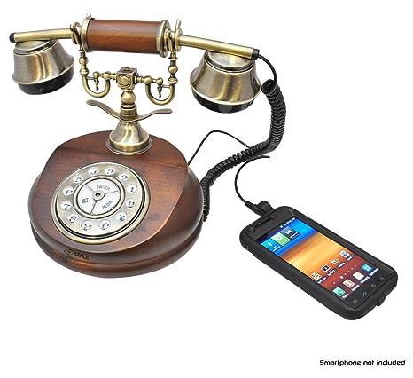 Pyle PRT15I Retro Antique Classic Desk Phone 1920 Reproduction, Retail  Packaging, Wood - Amazon.com : Pyle PRT15I Retro Antique Classic Desk Phone 1920