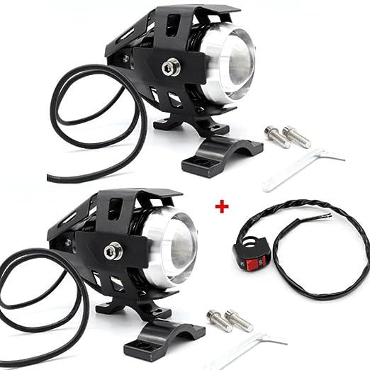 43 opinioni per USUN 2pcs moto cree LED faro Faretto proiettore Spot Fendinebbia anteriore guida