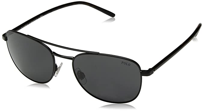 Ralph Lauren POLO 0PH3107 Gafas de sol, Semi Shiny Black, 55 para ...