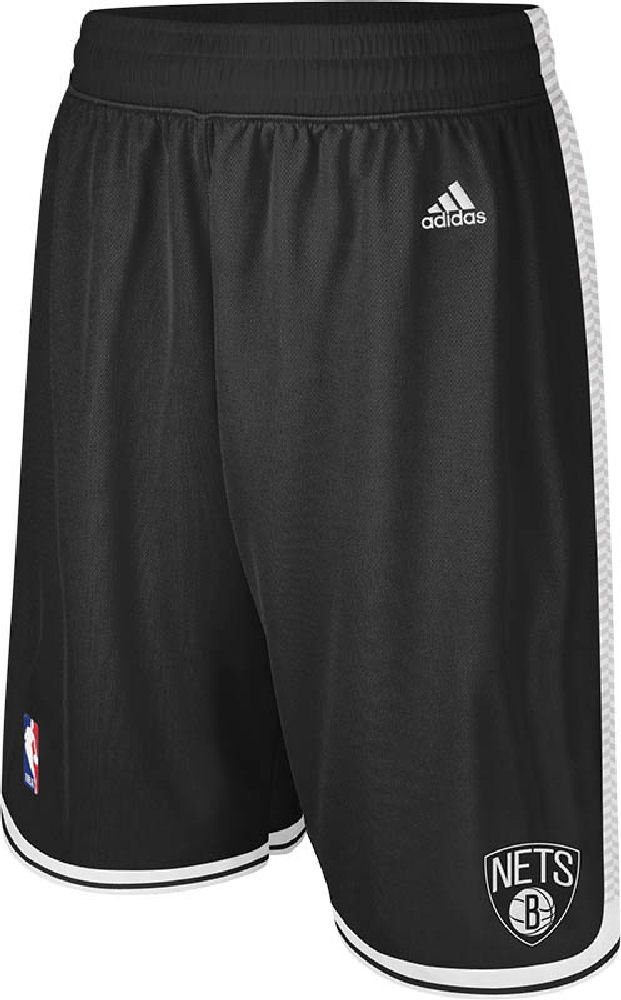 NBA Brooklyn Nets Youth Boys 8-20 Replica Road Shorts, Large (14/16), Black