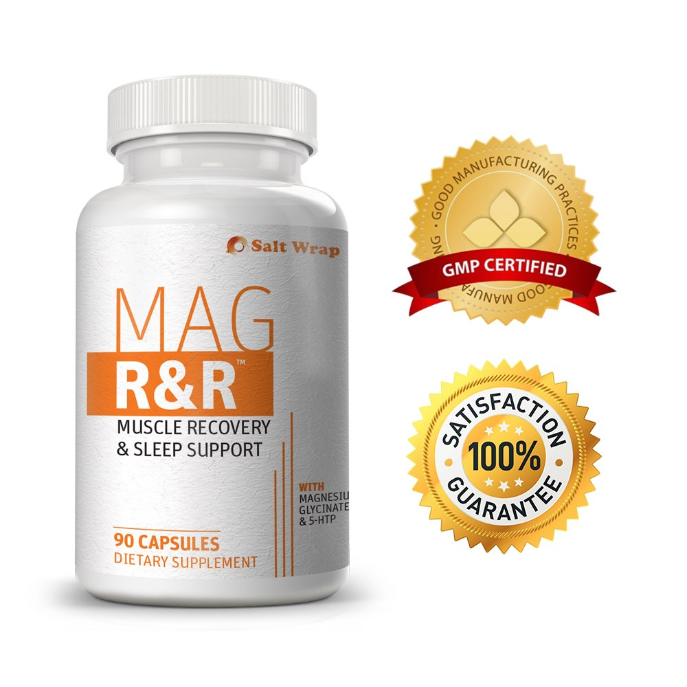Mag R&R Natural Muscle Relaxant & Sleep Aid - EXTRA STRENGTH. Natural remedy for leg cramps, muscle tension, muscle pain, spasms and stress. From SaltWrap Biolabs