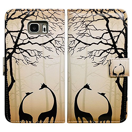 Black Giraffe Wallet - Bfun Packing Bcov Black Giraffe Style Leather Wallet Cover Case For Samsung Galaxy S7