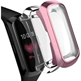 OenFoto Compatible with Samsung Galaxy Fit Case Screen Protector, Soft TPU Plated Cover Full Cover Rugged Bumper Frame Compatible Samsung Galaxy Fit Fitness Tracker