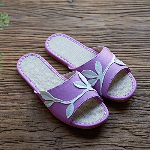 Summer 36 linen Pink slippers 37 8vga8