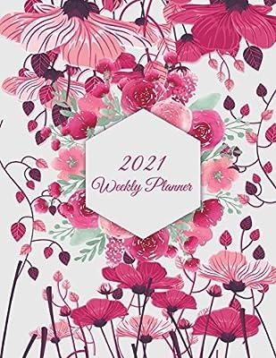 2021 Weekly Planner: Cute Floral, Weekly Calendar Book 2021