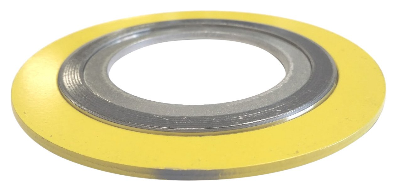 Sterling Seal 9000IR18316PTFE150X12 316L Stainless Steel Spiral Wound Gasket with 316SS Inner Ring and PTFE Filler for 18 Pipe Pressure Class 150# Pack of 12 Green Band with White Stripe Supplied by Sur-Seal Inc of NJ