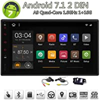 EinCar Android Car Stereo 7 inch Single Din in-Dash Sat Navi Head Unit with Android 7.1 Nougat Quad Core 1GB RAM 16GB ROM Support Android iPhone Mirrorlink WiFi Bluetooth + Wireless Reverse Camera