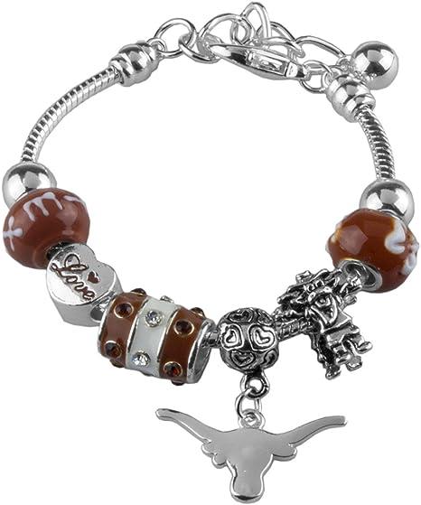 Sandol Texas Longhorns Triple Charm Beaded Bracelet