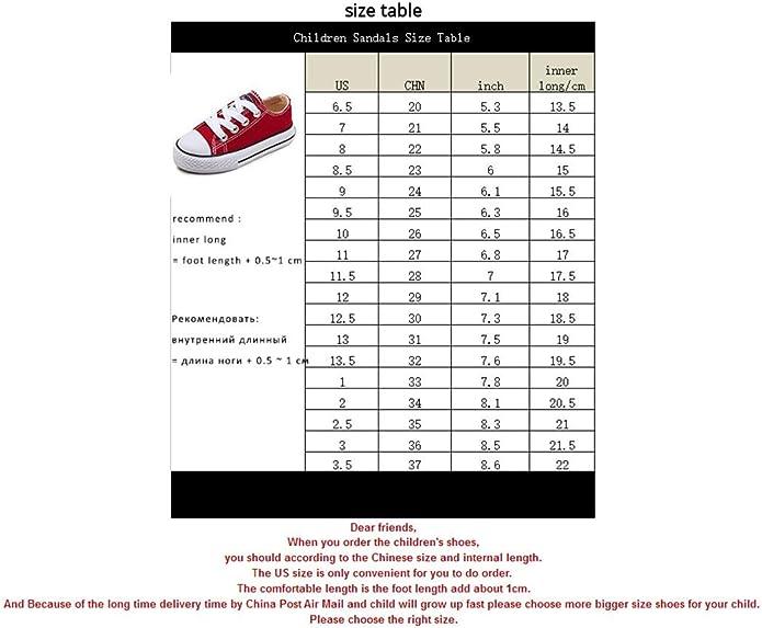 Amazon.com: Zapatillas de lona clásicas para niños, chicas ...