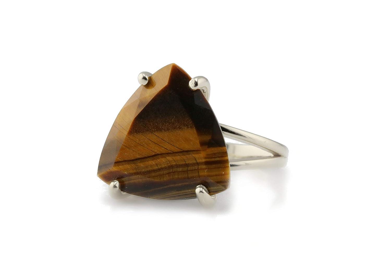 Tiger Eye ring,14k ring,gold stacking ring,delicate stack ring,gemstone ring,square tiny stone ring,woman ring