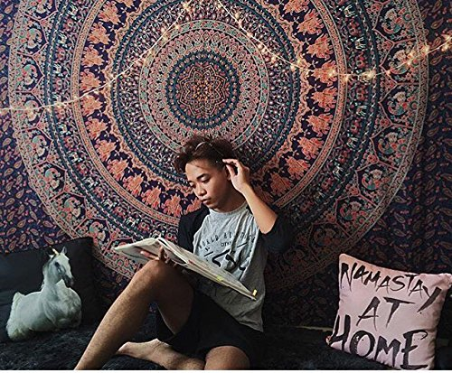 New launched Popular Twin Black and White Hippie Elephant Mandala Tapestry Indian Traditional Beach Throw Wall Art College Dorm Bohemian Wall Hanging Boho Twin Bedspread By Craft n Craft India