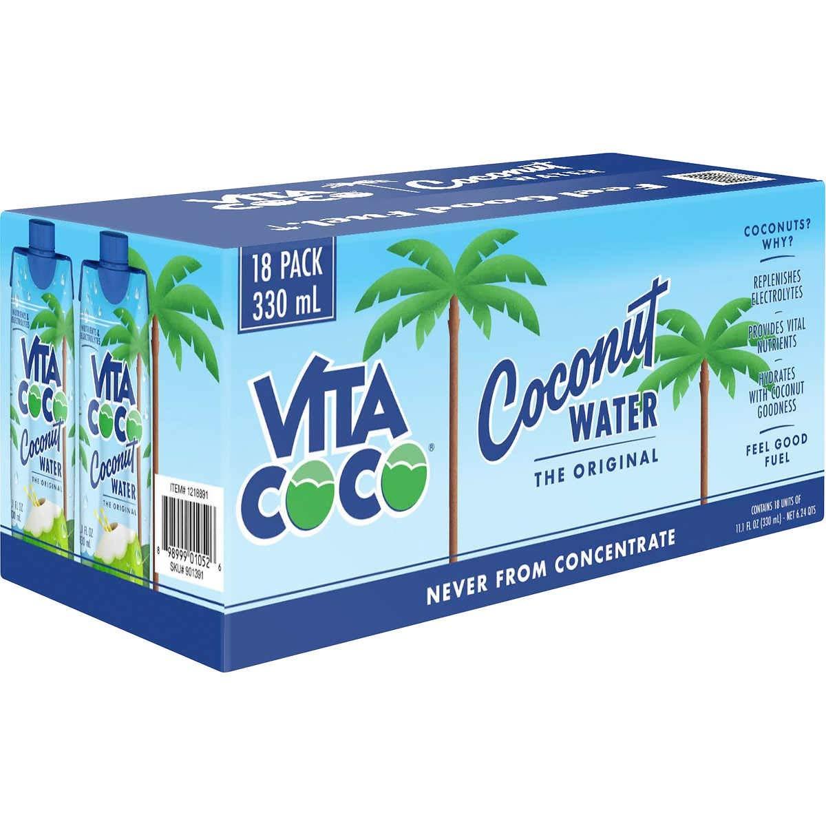 Vita Coco Coconut Water, Original, 11.1 Fluid Ounce (18 Count)