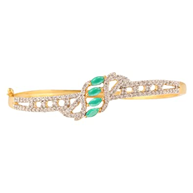 Swasti Jewels Gold Plated CZ Fashion Jewelry Indian Bracelet Kada Women  Girls5