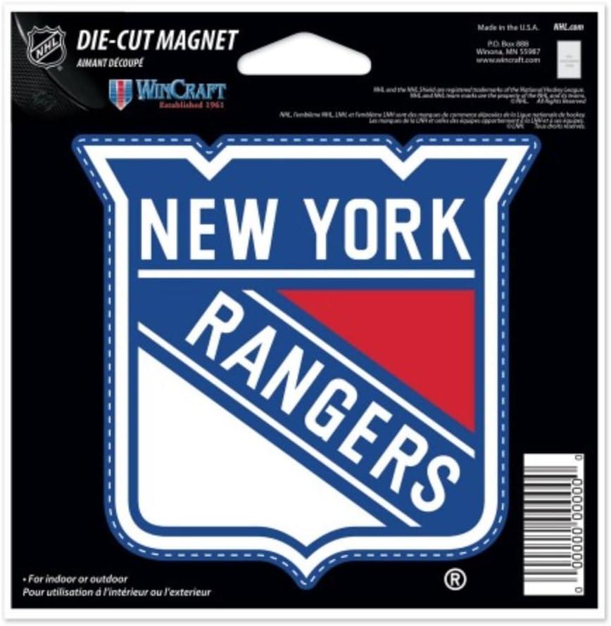 NHL New York Rangers 4.5 x 6 inch Die-Cut Magnet