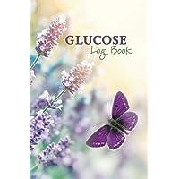 Glucose Log Book: Blood Sugar Logbook - Diabetic Record Keeping - Butterfly in Lavender Flower Garden