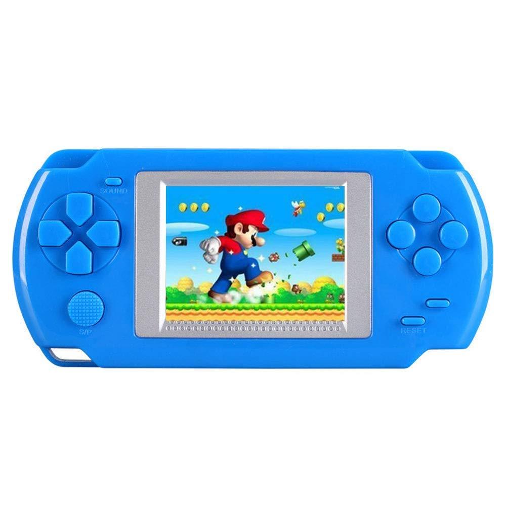 KOBWA Handheld-Spielkonsole für Kinder, Erbaut in 268 Klassische Alte Spiele Tragbare Spielkonsole, Die 80er Arcade-Videospielsystem (Rot)