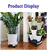 "TRUEDAYS 11"" Plant Saucer Caddy, Plant Dolly with"