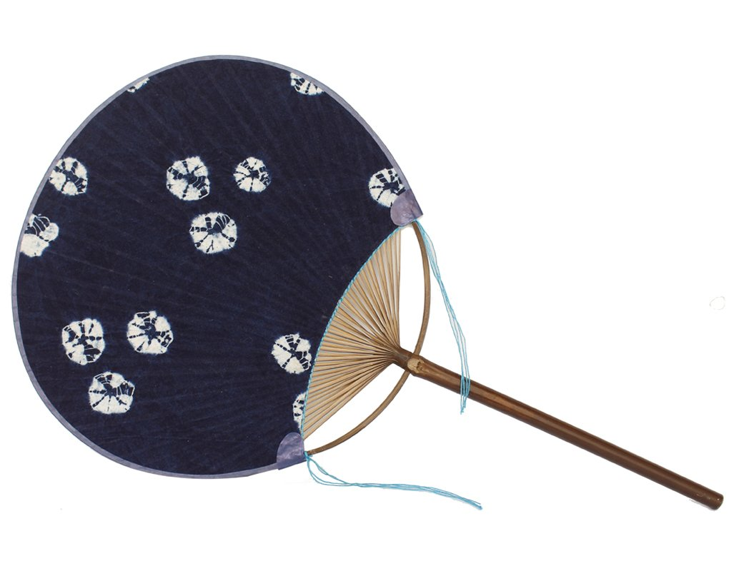 NAYEARN Round Hand Fans Chinese Hand Tie Dyed Cotton Fan (Blue Waves) Dali Hefengran Co.Ltd.