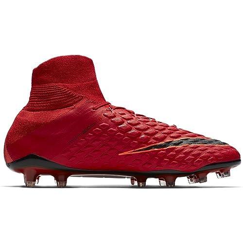 Nike Hypervenom Phantom II DF FG - Hombres De Tacos para Fútbol (Rojo a8a11bd1184