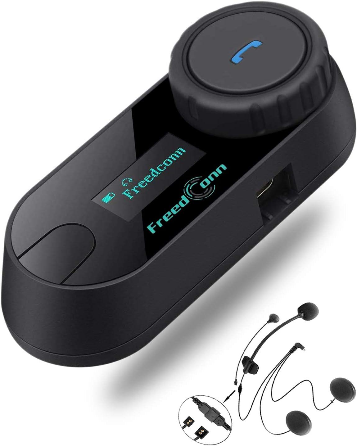 Intercomunicador De Auriculares Bluetooth Para Motocicleta Tcom Sc Con Pantalla Lcd 800m Impermeable Bluetooth Sistema De Comunicación 3 Jinetes Emparejamiento 2 Jinetes Intercomunicador Compatible Con Cascos Integrales Cascos Amazon Com