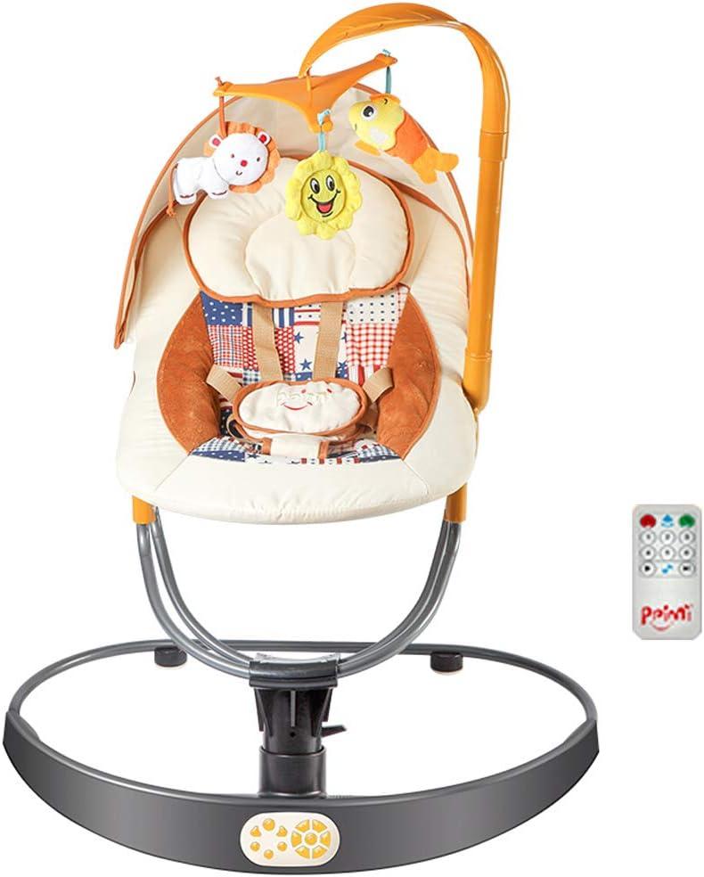 Swing Baby Rocker Silla for ni/ños peque/ños Asiento con mosquitera sincronizaci/ón de Tercera Marcha y m/úsica Relajante. Silla Infantil Comfort Baby Bouncer con Control Remoto