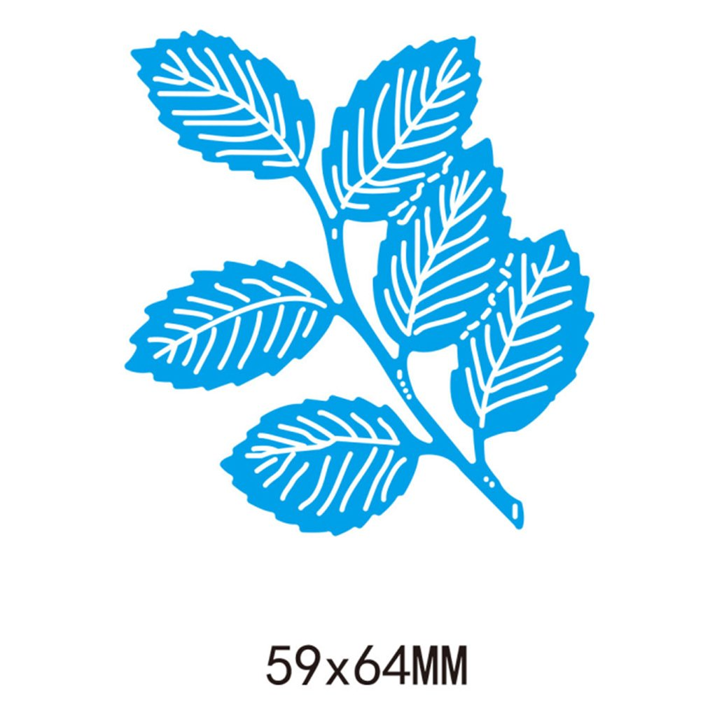JAGETRADE Foglie in acciaio al carbonio Taglio Muore Stencil Fai da te Scrapbooking Goffratura Album Carta di carta Craft 59x64mm