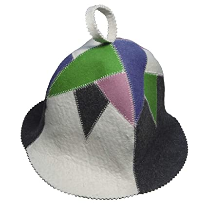 6a39ddc4ce45b Image Unavailable. Image not available for. Color  Allforsauna Sauna Hat  Russian Banya Cap 100% Wool Felt Modern Lightweight Head Protection for Men