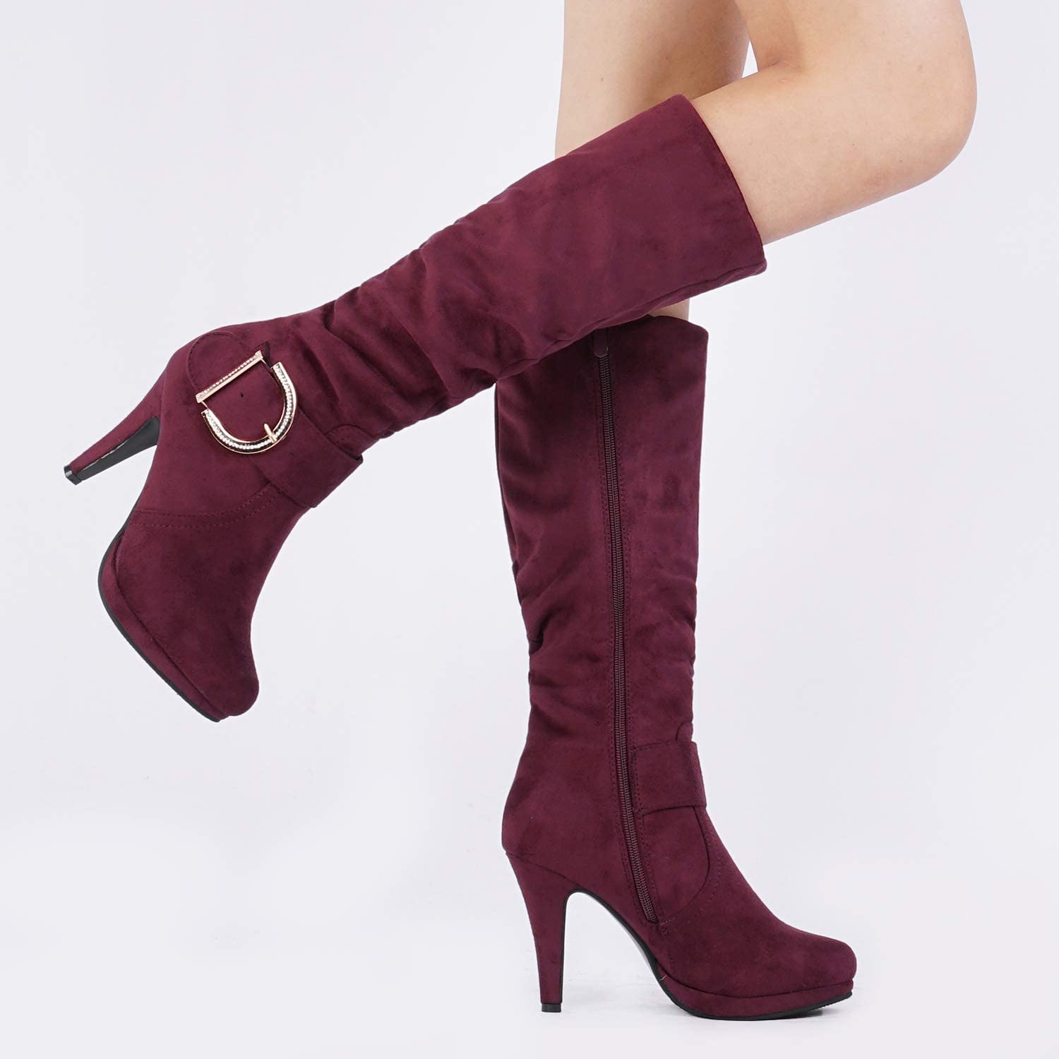 DREAM PAIRS Womens Knee High High Heel Winter Fashion Boots