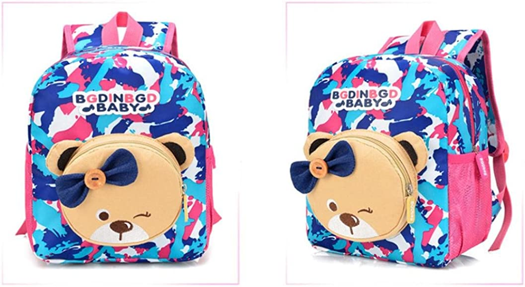 Leegor Boys Girls Cute Bear Pattern Animals Camouflage Backpack Canvas School Bag