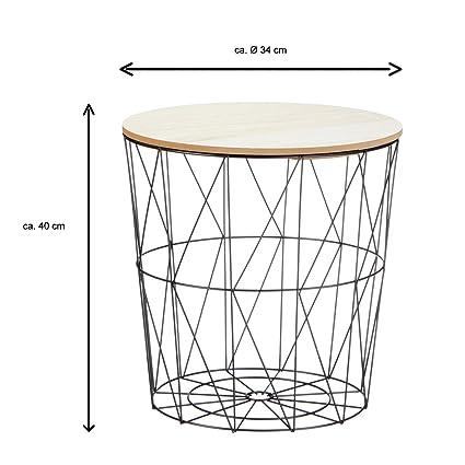Bada Bing 3er Set Metall Korb Beistelltisch Metallkorb Couchtisch