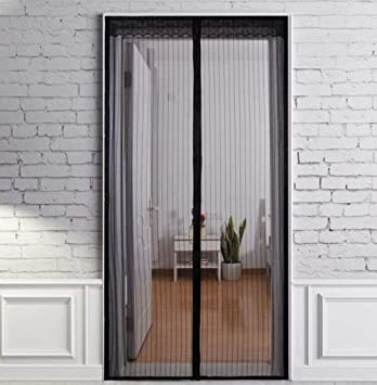 Cortina anti-mosquitos, puerta de pantalla magnética Puerta de la ...