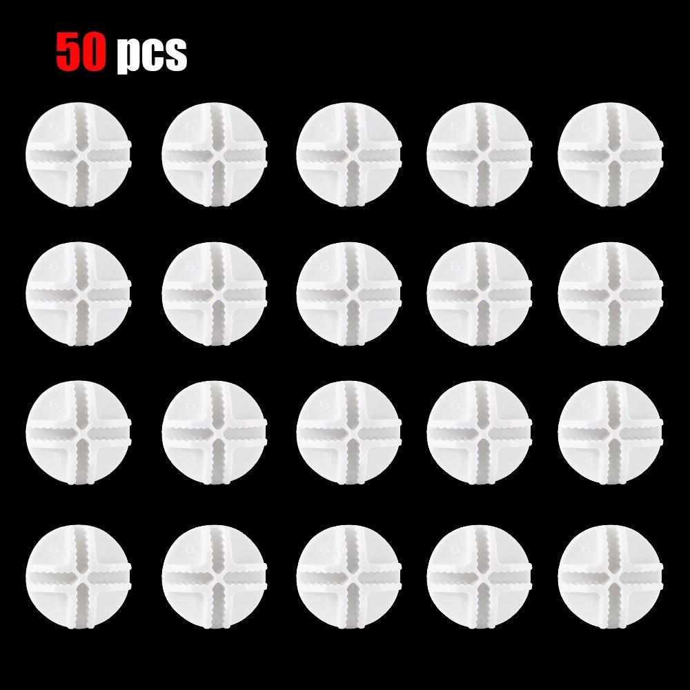 Bettli 50 White Connectors Wire Storage Cube & Mesh Snap Organizer Mini Push Grid(1 flat circle) Bokesi B-SCW50