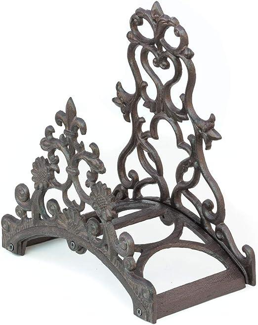 Antikas - portamanguera de pared estilo antiguo de hierro fundido - soporte manguera de agua jardín: Amazon.es: Jardín