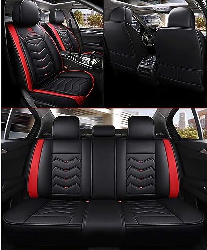for BMW F10 F11 F15 F16 F20 F25 F30 F34 E60 E70 E90 Janvier 3 4 5 7 S/érie GT X1 X3 X4 X5 X6,Beige Housse siege voiture Housse de si/ège auto en cuir PU Jeu complet