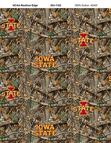 Iowa State Realtree CAMO Cotton Fabric-Sold by The Yard