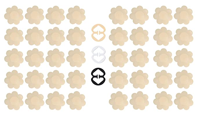 f614aa4a514 Daisyformals 20 Pairs Pasties Satin Nipple Cover Stickers Disposable Breast  Petals Flower Shape
