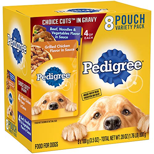 Pedigree Choice Cuts In Gravy Adult Wet Dog Food Variety Pack, (8) 3.5 Oz Pouches