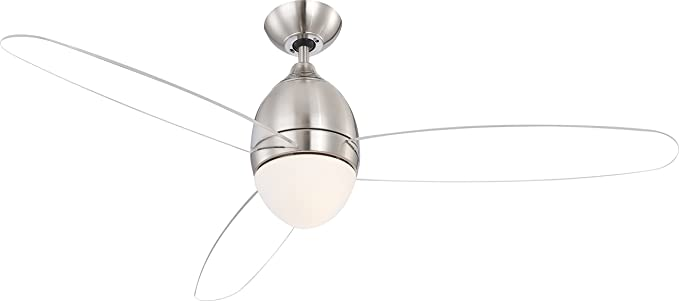 Globo e27 ceiling fan with clear blades brushed nickel amazon globo e27 ceiling fan with clear blades brushed nickel mozeypictures Images
