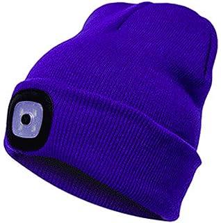 87c4fbfb976 Unisex Winter Beanie LED Hat Warm Knitted Hat Outdoor Men Women Hip-Hop Cap  Rechargeable