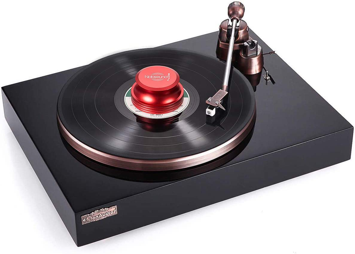 Plataforma de Sonido de Peso de la Capa Nobsound LP Vinyl Turntable Disc Stabilizer Record Weight Metal Matte Black Color Negro