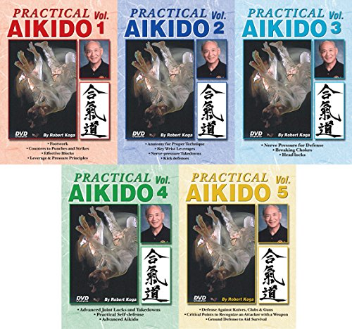 5 DVD SET Practical Aikido real-life Street Self Defense Instructional