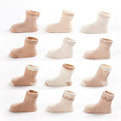 Baby Products Baby Toddler Girls Boys Cotton Cozy Ankle Socks Loose Mouth Leekey 6 Pairs Per Pack