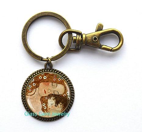 Llavero de madre y gustav Klimt, llavero Klimt, madre y ...