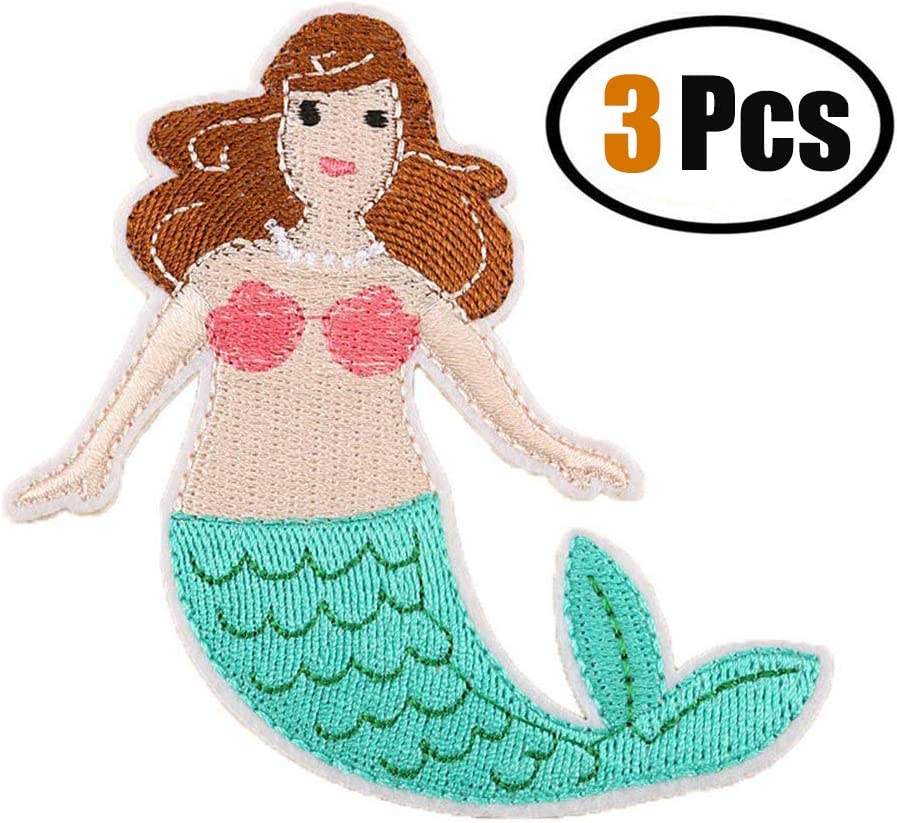 Sew On PatchMommy Mermaid Patch Embroidered Kids Appliques Iron On