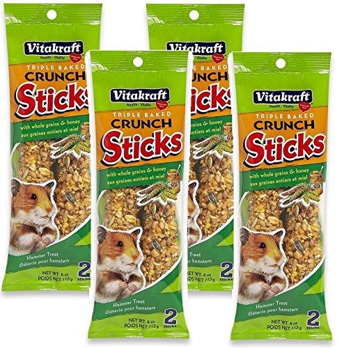 - Vitakraft Hamster Honey Sticks Treats - 4 PACK